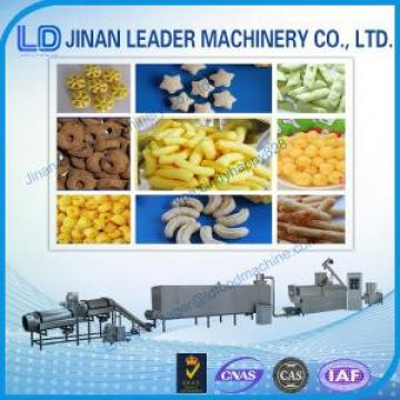 Easy operation puffed snack food twin screw extruder machine