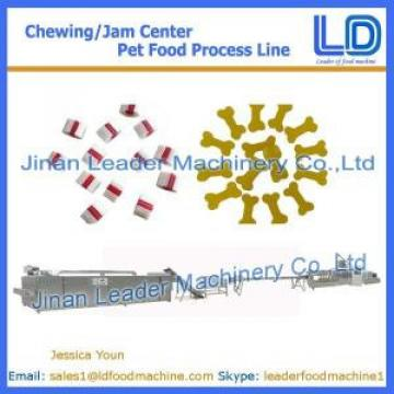 Chewing/jam center pet food processing machinery