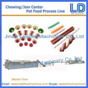 Chewing/jam center pet food machinery,Pet food processing line