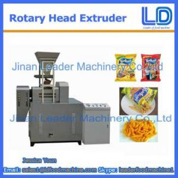 Rotary head extruder for Niknak, cheetos, kurkure