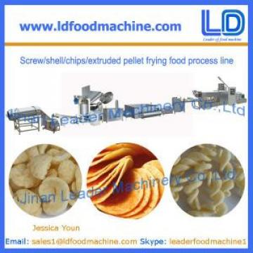 Screw/shell/chips/extruded pellet frying food Production line for sale