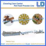 Chewing/jam center pet food making machine